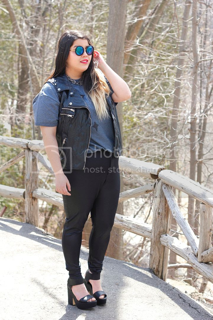hey gorgeous line and label constellation tee leather accents plus size fashion