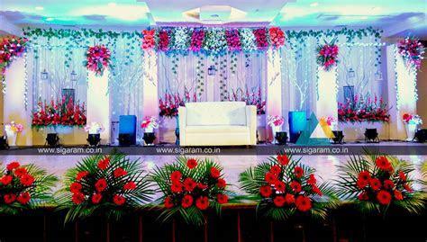Reception Stage decoration at Kalaignar Arivalayam