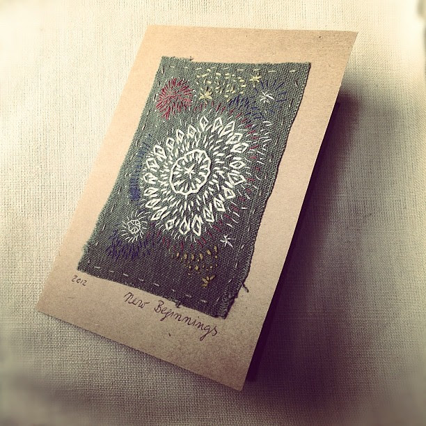 This firework display of embroidery was stitched for me by my dear friend kathrin of annekata.com I cherish it.