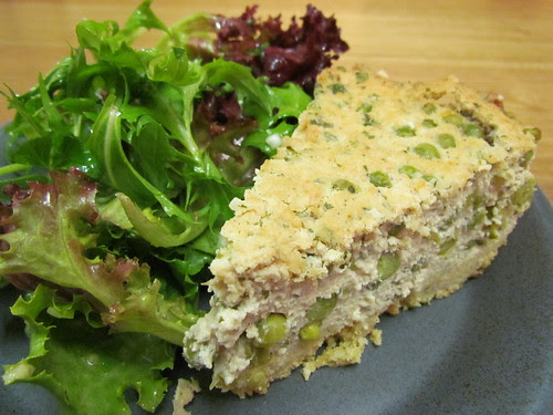 Savoury Cheesecake; Salad with Mamou's Magical Vinaigrette