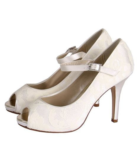 Nina   Dyeable Bridal Platform Peep Toe Shoe   Wedding Nites