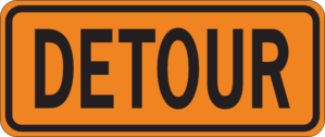 Detour Sign Clip Art