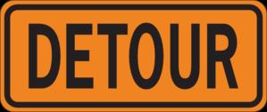 Detour Sign Clip Art