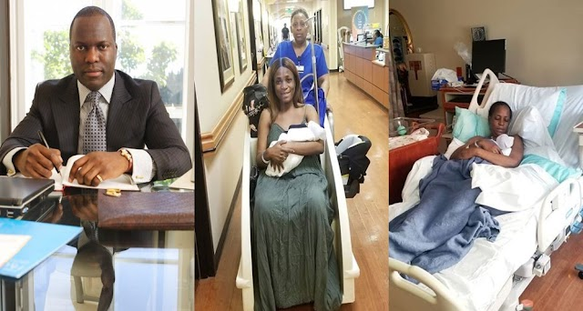 Finally, See How Linda Ikeji's Baby Daddy Reacted To The Birth Of Their Son