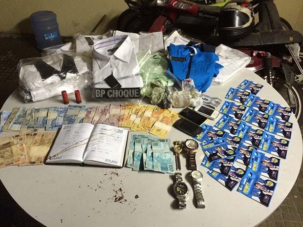 Prisão aconteceu na noite de sábado (25) em Lagoa Nova (Foto: Divulgação/Polícia Militar do RN)