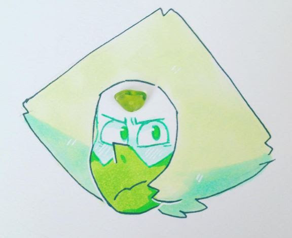 i was lucky enough to find a perfectly shaped piece of peridot at the fair earlier this month