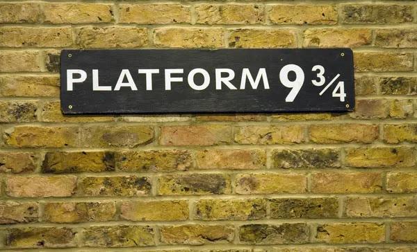 Plataforma nueve y tres cuartos closeup — Foto de Stock #27329227