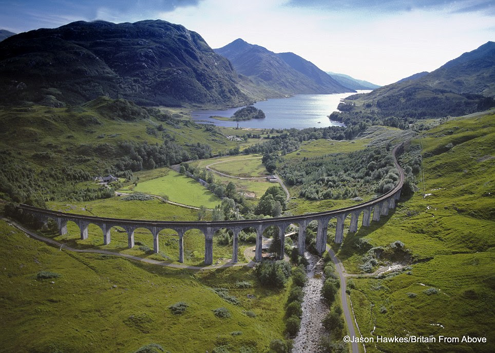 Perfect location: The Glenfinnan Viaduct in Scotland featured in the Harry Potter films