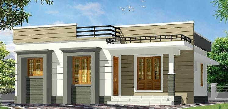 875 Sq Ft Simple Contemporary Low Budget Single Floor ...