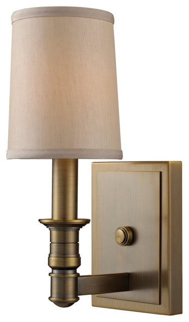 ELK Lighting Baxter 31260/1 Wall Sconce - Brushed Antique Brass ...