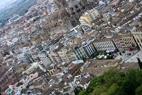 downtown Granada, Spain