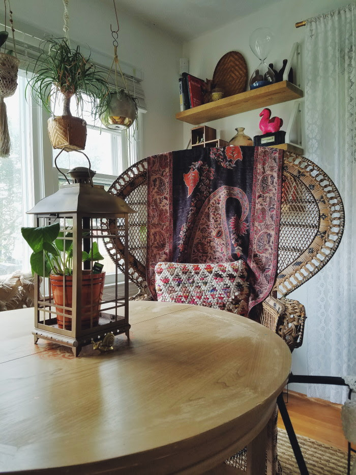 bohemian cozy and warm fall home tour