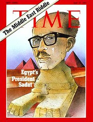 President Sadat on the cover of the time for the first time