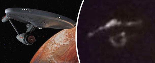 Escéptico fotografía un OVNI en forma de nave de Star Trek sobre una isla canadiense