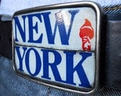 Yeah, New York Belt Buckle - Recycled License Plates (Limited Edition)