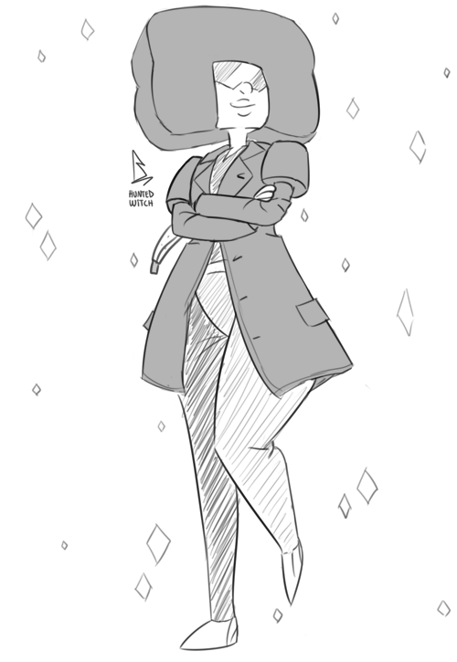 a quick-doodle request for the wife: the crystal gems as the doctor! garnet is the ninth, pearl is the tenth (i mean obviously), and amethyst is the fourth! click for full view!
