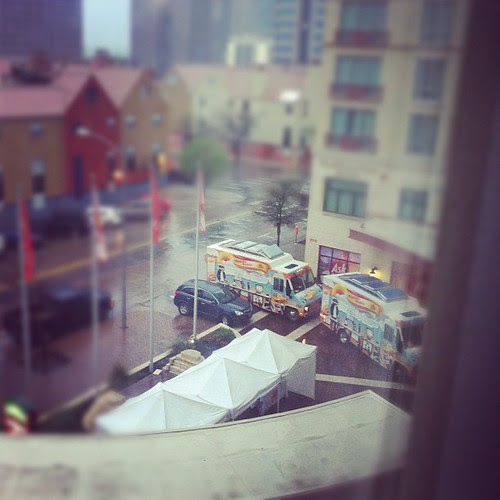 The @todayshow Food Trucks at the Marriott #sxsw