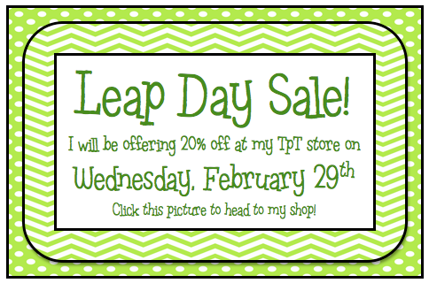 leap day sale at my little shop a cupcake for the teacher. Black Bedroom Furniture Sets. Home Design Ideas