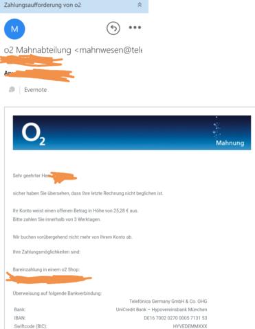 Rechnung Telefonica Deutschland
