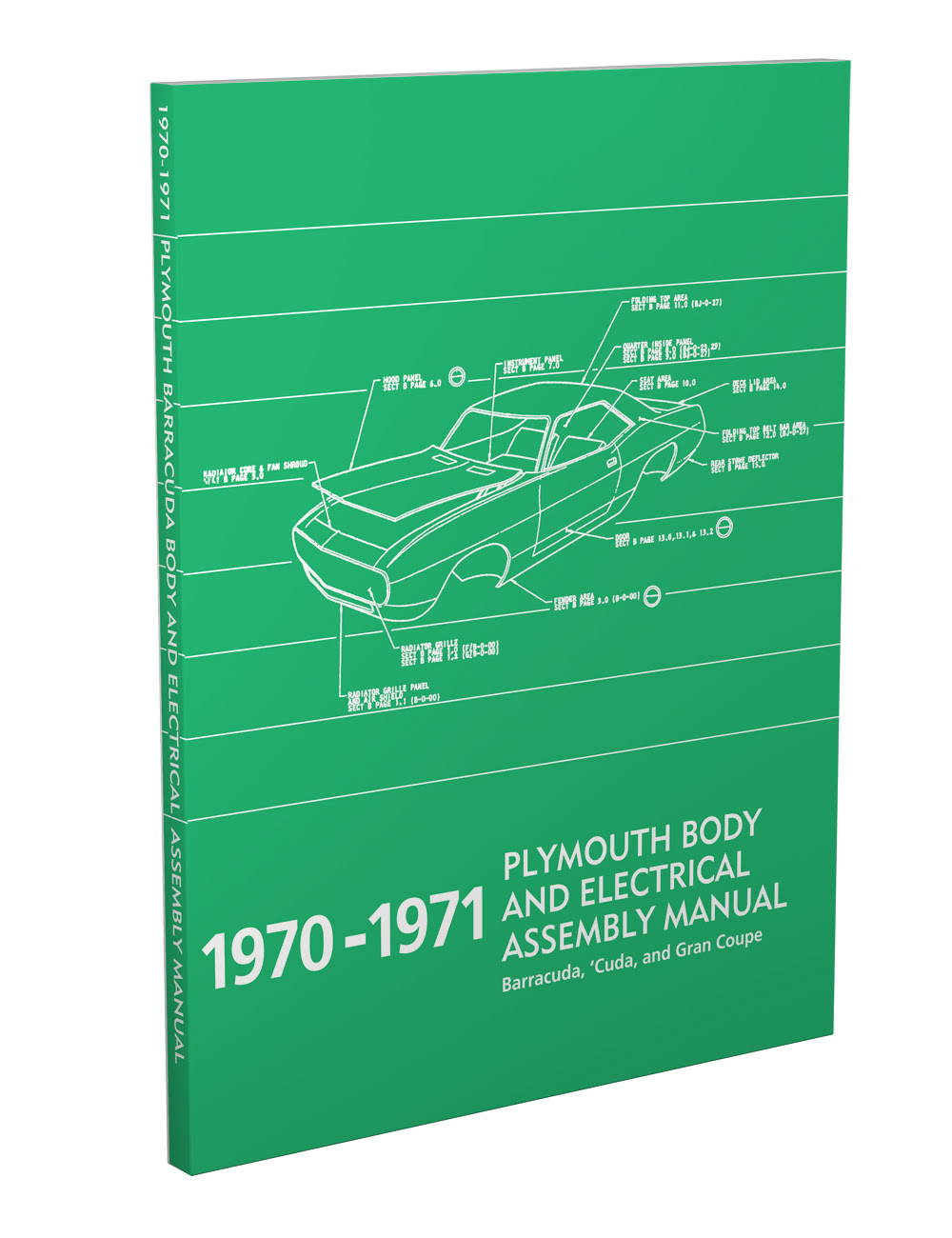 1971 Plymouth Cuda Barracuda Wiring Diagram Manual Reprint