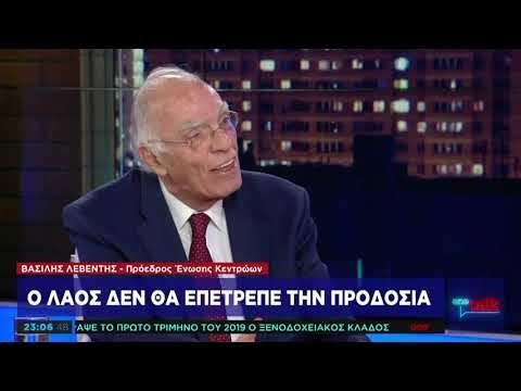 Λεβέντης: Ο Τσίπρας μου είπε οι Σκοπιανοί είναι Μακεδόνες