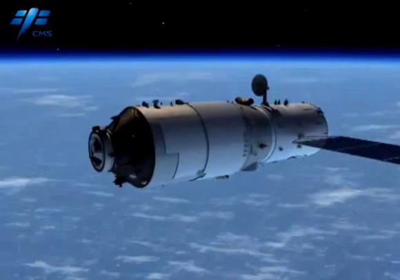 Estación espacial china Tiangong 2.