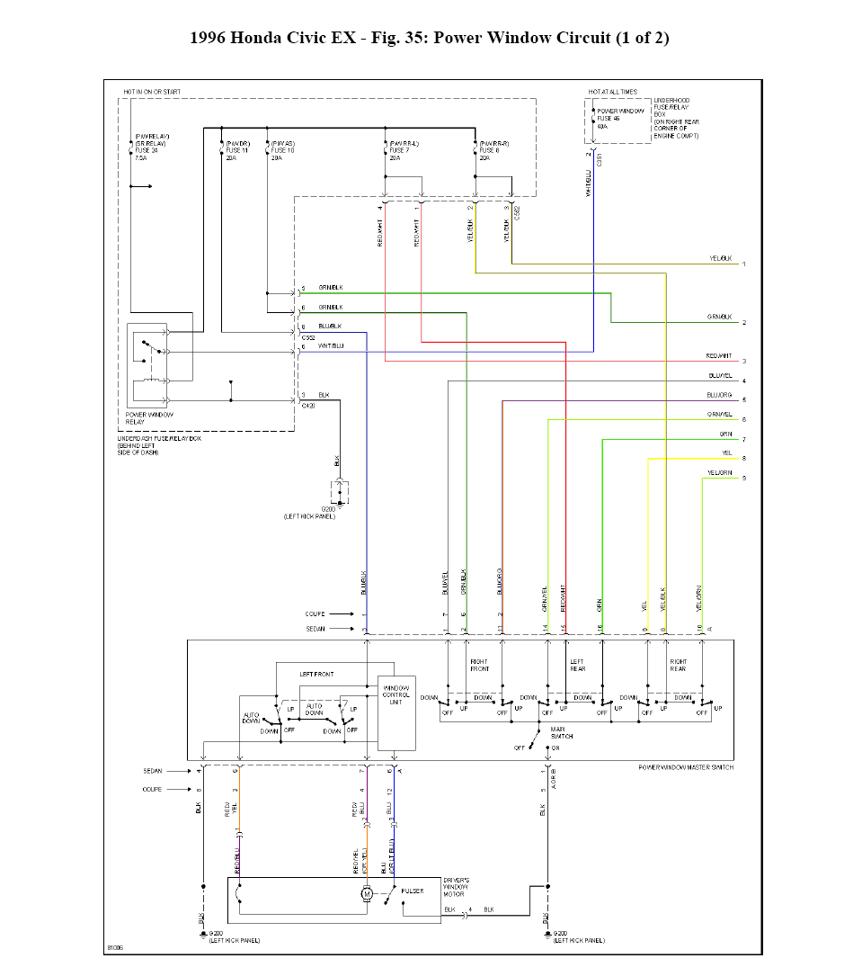 I'm looking for power windows electrical diagram for a ...