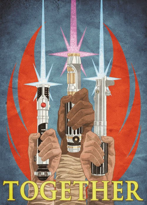 Unite Behind The Force Star Wars Propaganda Poster