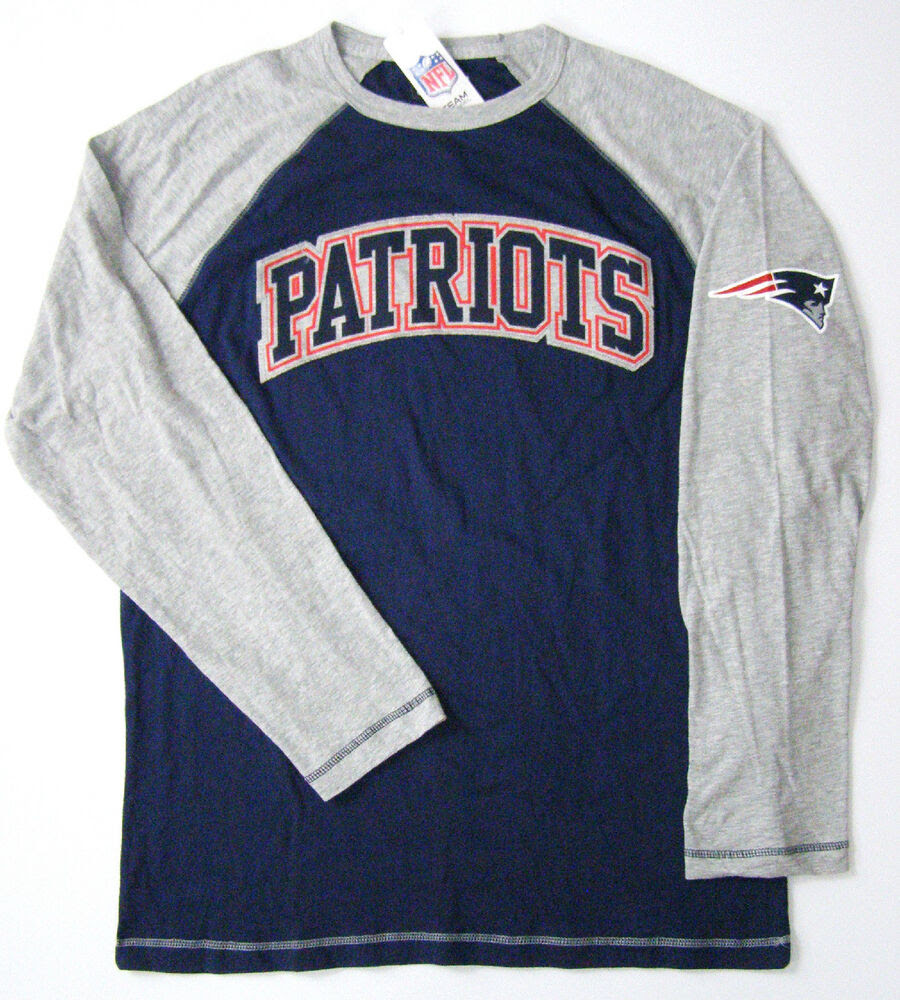 NFL Team Apparel New England Patriots Fanfare Long Sleeve Two Tone Shirt  eBay