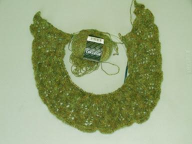 Photo of Birch shawl in progress