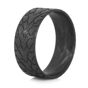 Men's Carbon Fiber Drag Radial Ring   Titanium Buzz