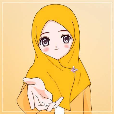 gambar kartun anime wanita muslimah  terupdate