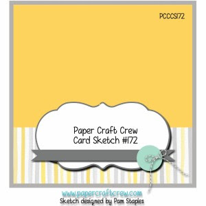 Paper Craft Crew Challenge 172. #papercraftcrew #cardsketch