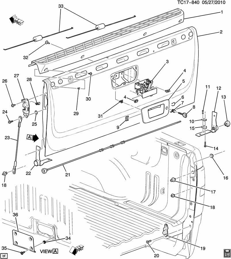 29 Gmc Sierra Tailgate Latch Diagram