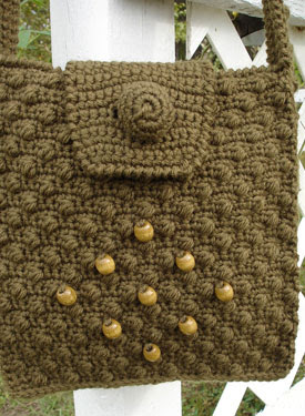Cobblestone Crochet Shoulder Bag - Crochet Pattern