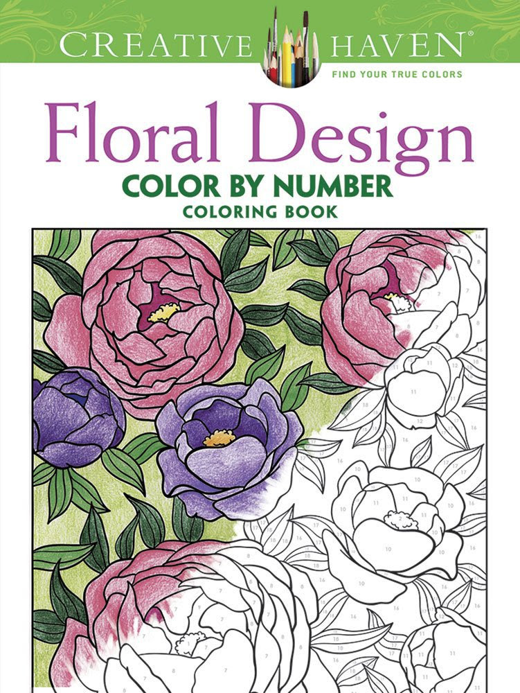 Creative Haven Floral Design Color by Number Coloring Book ...