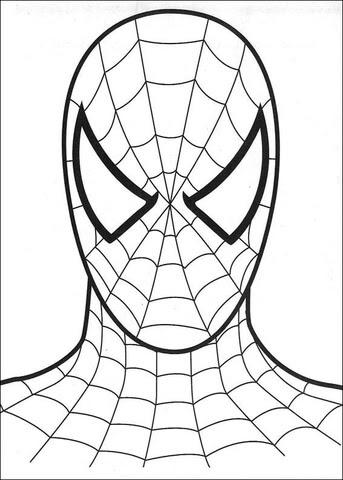 Dibujo De Rostro Del Hombre Araña Para Colorear Dibujos Para