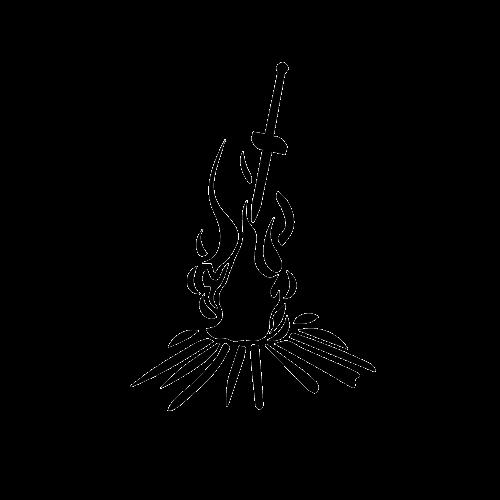 dark souls bonfire clipart - Clipground