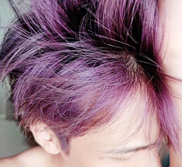 typicalben in mauve purple colour hair