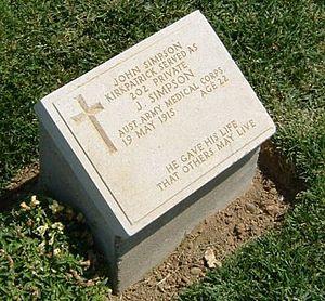John Simpson Kirkpatrick headstone