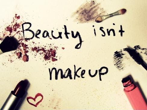 Beauty Isnt Makeup Picture Quotes