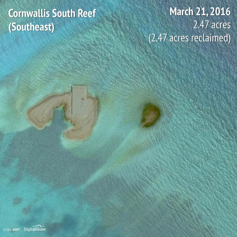 Cornwallis South Reef (Southeast) 2016 | 2.47 acres reclaimed