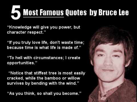5 Most Famous Quotes By Bruce Lee Motivating Memes