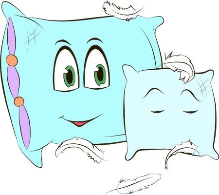 Dos almohadas sobre un fondo blanco ilustración vectorial Foto de archivo - 21065475