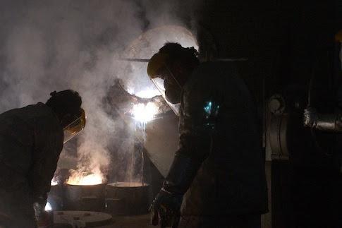 Iranian workers at the Uranium Conversion Facility near Isfahan, Iran / AP