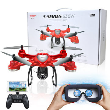 S-SERIES S30W Double GPS Dynamic Follow Mode WIFI FPV With 720P HD Camera RC Drone Quadcopter