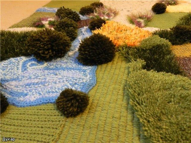 вязание крючком, вязание спицами, вязаные игрушки, идеи для творчества, коврик