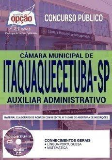 Apostila Concurso Câmara de Itaquaquecetuba 2018 | AUXILIAR ADMINISTRATIVO