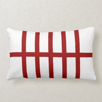 5 Bisected Red Lines Pillows