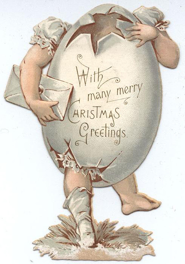 """With many merry Christmas greetings"" (via TuckDB Ephemera)"